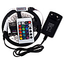 cheap Wetsuits, Diving Suits & Rash Guard Shirts-RGB LED Strip 5M 300 3528SMD Flexible Light LED Tape Party Decoration Lamps DC12V 3A Power Adapter IR Remote Controller