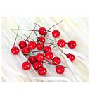 olcso Művirág-2cm 20db kis szimuláció gránátalma bogyók művirág piros karácsonyi cseresznye porzó lakodalom fesztivál dekoráció
