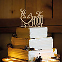 cheap Cake Toppers-Cake Topper Non-personalized Monogram Wood