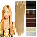 cheap LED Bulbs-Synthetic Hair Hair Extension Straight Classic Clip In Daily High Quality