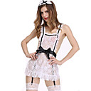 abordables Uniformes Sexy-Femme Tenus de Servante Adultes Uniformes de Femme de Ménage Genre Costume de Cosplay Couleur Pleine Boucle