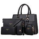 preiswerte Taschensets-Damen Taschen Velourleder Bag Set / Reisverschluss 5 Stück Geldbörse Set Niete Purpur / Rot / Blau / Beutel Sets