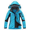 cheap Softshell, Fleece & Hiking Jackets-Women's Hiking Jacket Outdoor Winter Waterproof Thermal / Warm Quick Dry Windproof Wearable Breathable Detachable Cap Fleece Softshell