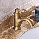 baratos Torneiras de Banheiro-Torneira pia do banheiro - Pré Enxaguada / Cascata / Separada Cobre Envelhecido Difundido Monocomando Dois Buracos
