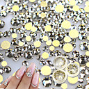 abordables Decoraciones y Diamantes Sintéticos para Manicura-500 pcs Brillantes arte de uñas Manicura pedicura Diario Glitters / Neón y brillante / Moda