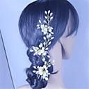 billige Hodeplagg til fest-plysj perle rhinestone hair pin headpiece klassisk feminin stil