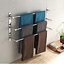 billige Håndklædestænger-håndklæde bar rustfrit stål 3 tier håndklædestativ badeværelse hylder vægmonteret 70cm