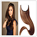 cheap Tape in Hair Extensions-Flip In Human Hair Extensions Straight Human Hair Extensions Human Hair Brazilian Hair Halo Extensions / 8a Women's