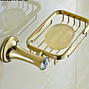 billige Kåbe Kroge-Sæbeskåle og holdere Høj kvalitet Moderne Messing Krystal 1 stk - Hotel bad