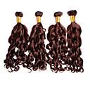 cheap Natural Color Hair Weaves-4 Bundles Brazilian Hair Deep Wave 8A Human Hair Natural Color Hair Weaves / Hair Bulk Human Hair Weaves Human Hair Extensions