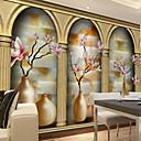 povoljno Zidne tapete-Cvjetni print Art Deco 3D Početna Dekoracija Suvremena Zidnih obloga, Platno Materijal Ljepila potrebna Mural, Soba dekoracija ili