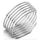 baratos Braceletes-Mulheres Bracelete - Prata de Lei Natureza Pulseiras Prata Para Aniversário Presente namorados