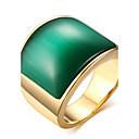 billige Herreringer-Herre Statement Ring Ring - Titanium Stål Mote Smykker kaffe / Grønn Til Daglig Avslappet 8 / 9 / 10 / 11