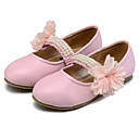cheap Girls' Shoes-Girls' Shoes Leatherette Spring & Summer Comfort / Flower Girl Shoes Flats Beading / Flower / Gore for Beige / Peach / Pink