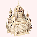 cheap 3D Puzzles-Wooden Puzzle Famous buildings Chinese Architecture House Professional Level Wooden 1 pcs Boys' Girls' Toy Gift
