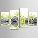tanie Walcowane wydruki na płótnie-Wydrukować Abstrakcja / Kwiatowy / Roślinny Realistyczne / Nowoczesny Cztery panele