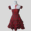 זול תחפושות אנימה-נסיכות לוליטה מתוקה בגדי ריקוד נשים שמלות Cosplay שרוולים קצרים באורך  הברך תחפושות