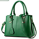 cheap Totes-Women's Bags PU Tote / Zipper Rivet Fuchsia / Green / Wine