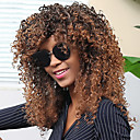 cheap Synthetic Capless Wigs-Synthetic Wig Women's Curly / Afro Brown With Bangs Synthetic Hair Brown Wig Capless Dark Brown / Medium Auburn MAYSU