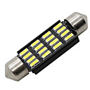 cheap LED Candle Lights-SO.K 4pcs T11 Car Light Bulbs 4 W SMD 4014 300 lm LED Interior Lights