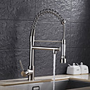 cheap Chandeliers-Kitchen faucet - Single Handle One Hole Nickel Brushed Pull-out / ­Pull-down Vessel Contemporary / Art Deco / Retro / Modern Kitchen Taps