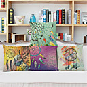 cheap Fishing Lures & Flies-4 pcs Linen Pillow Case, Graphic Prints Euro Country Retro