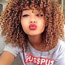 abordables Pelucas de Cabello Natural-Cabello humano Encaje Frontal Peluca Kinky Curly Peluca 130% Densidad del cabello Entradas Naturales Peluca afroamericana Atado 100 % a mano Mujer Corta Media Pelucas de Cabello Natural