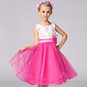 preiswerte Kleider für Mädchen-Mädchen Kleid Blumen Polyester Sommer Ärmellos Grün Rote Rosa Purpur Fuchsia