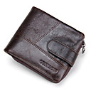 cheap Wallets-Men's Bags Cowhide Wallet / Bi-fold for Shopping / Sports / Outdoor Coffee / Brown