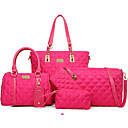 cheap Bag Sets-Women's Bags Nylon Bag Set 5 Pieces Purse Set Rivet Purple / Fuchsia / Blue