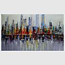 abordables Adhesivos de Pared-Pintura al óleo pintada a colgar Pintada a mano - Abstracto Modern Lona