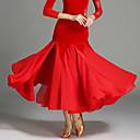 رخيصةأون أدوات الفواكه و الخضار-Ballroom Dance للمرأة أداء شيفون / مخمل ارتفاع متوسط تنانير