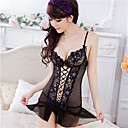 cheap Men's Rings-Women's Super Sexy Suits Ultra Sexy Robes Lace Lingerie Nightwear Patchwork