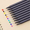 זול כתיבה-ג'ל עט עֵט עטי צבע מים עֵט, פלסטי אדום / שחור / כחול צבעי דיו עבור ציוד בית ספר ציוד משרדי חבילה של