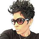 abordables Pelucas Naturales de Malla-Pelo humano pelucas sin tapa Cabello humano Ondulado Natural Corte a capas Corte Pixie Con flequillo Corta Hecho a Máquina Peluca Mujer