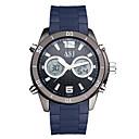 voordelige Dress horloge-ASJ Heren Digitaal horloge Japans Kalender / Waterbestendig / Cool Silicone Band Luxe / Informeel / Modieus Zwart / Blauw