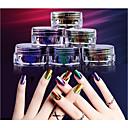 baratos Adesivos de Unhas-1 pcs Glitter & Poudre / Pó Glitters / Clássico Diário