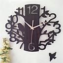 billige Moderne veggklokker-1pc 14 tommer hult treklokke rom mute klokke vegg klokker dekorasjon