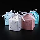 olcso Köszönetajándék tartók-Kör Négyzet Kocka alakú Kártyapapír Gyöngy-papír Favor Holder val vel Szalagok Nyomtatás Ajándék dobozok