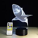 preiswerte Nachtleuchten-1 Stück 3D Nachtlicht Fernbedienungskontrolle Nachtsicht Größe S Farbwechsel Künstlerisch LED Modern / Zeitgenössisch
