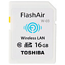 abordables Pelucas para Disfraz-Toshiba 16GB SD Card wifi tarjeta de memoria Clase 10 Flash air