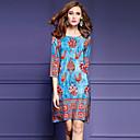 رخيصةأون باروكات كابلس صناعية-طباعة فستان فضفاض قياس كبير للمرأة