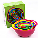 abordables Herramientas de Medición-Herramientas de cocina El plastico Cocina creativa Gadget Canasta de frutas Para utensilios de cocina 10pcs