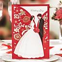 olcso Esküvői meghívók-Felöltő & Zseb Esküvői Meghívók 20 Nyomtatás Kártyapapír Minta