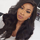cheap Human Hair Wigs-Human Hair Glueless Lace Front Lace Front Wig 360 Frontal Body Wave Wig 180% Hair Density Natural Hairline African American Wig 100% Hand Tied Women's Medium Length Long Human Hair Lace Wig CARA