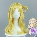 billige Kostymeparykk-Syntetiske parykker Krop Bølge Blond Syntetisk hår Parykk med fletter / Afrikanske fletter Blond Parykk Dame Medium Lengde Lokkløs Gul