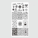 preiswerte Nail Stamping-10pcs/set Nagel-Kunst-Werkzeug Nagelmalwerkzeuge Nagel Stamping Werkzeug Vorlage Modisches Design Nagel Kunst Maniküre Pediküre Stilvoll / Mit Mustern / Gute Qualität