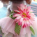 preiswerte Hundekleidung-Katze Hund Kleider Hundekleidung Blume Regenbogen Baumwolle Kostüm Für Haustiere Damen Niedlich Modisch