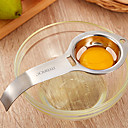 abordables Juegos de Mesa-1pc Herramientas de cocina Acero inoxidable Novedades removedor de semillas para huevo