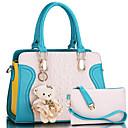 preiswerte Clutches & Abendtaschen-Damen Taschen PU Umhängetasche 2 Stück Geldbörse Set Hellgrün / Violett / Pinky